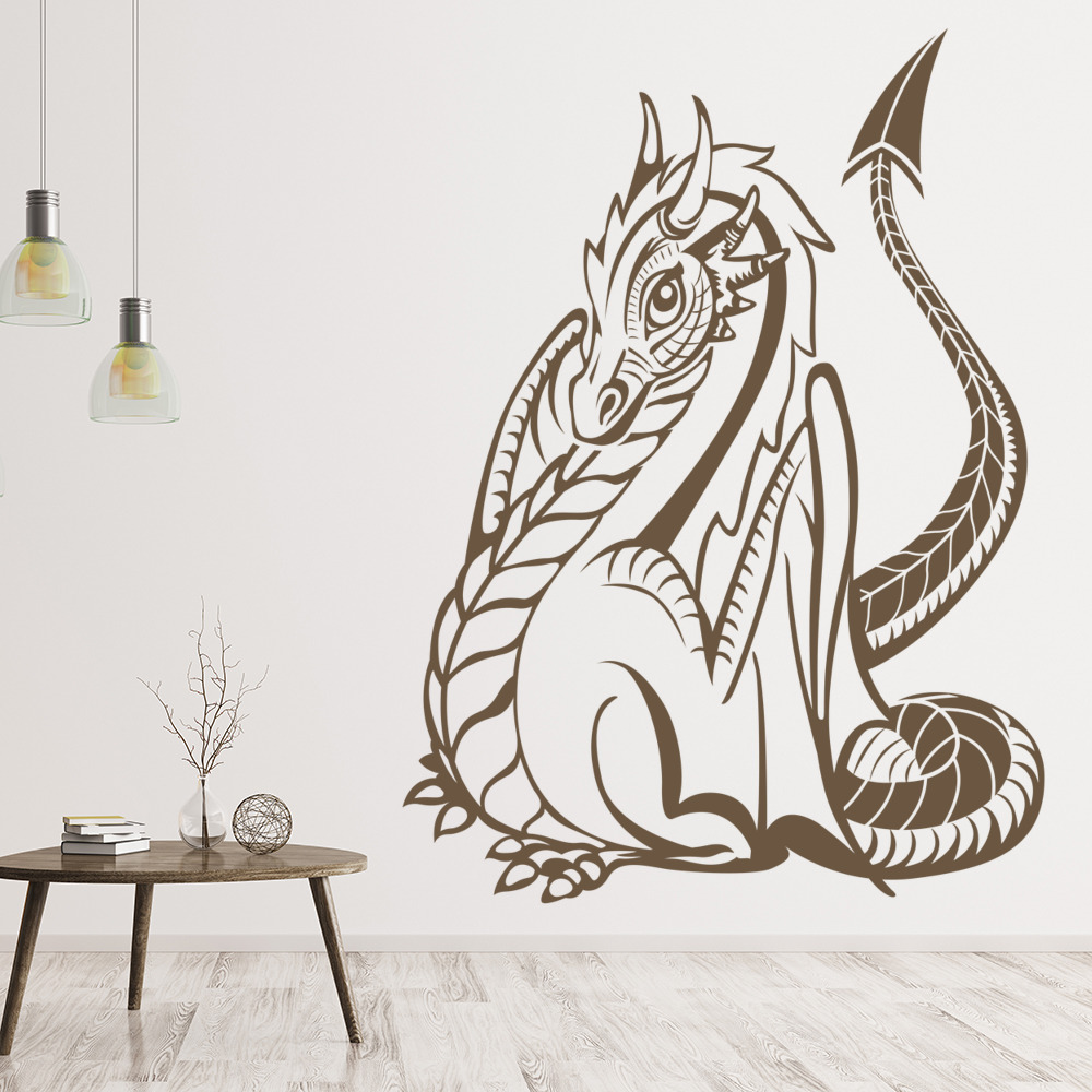 Dragon Wall Sticker Fantasy Monster Wall Decal Kids Bedroom Home Decor