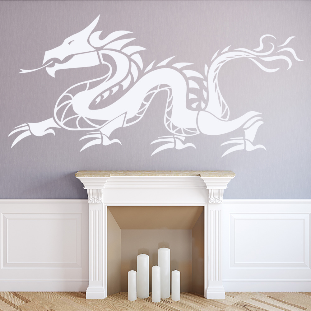 Chinese Dragon Wall Sticker Fantasy Monster Wall Decal Kids Bedroom Home  Decor