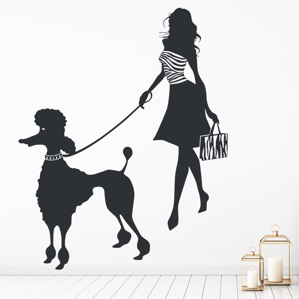 Poodle Dog Wall Decal Sticker WS-17581