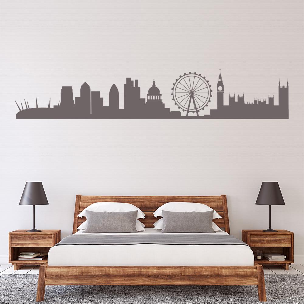 London City Skyline Wall Sticker Uk Cityscape Wall Decal Office