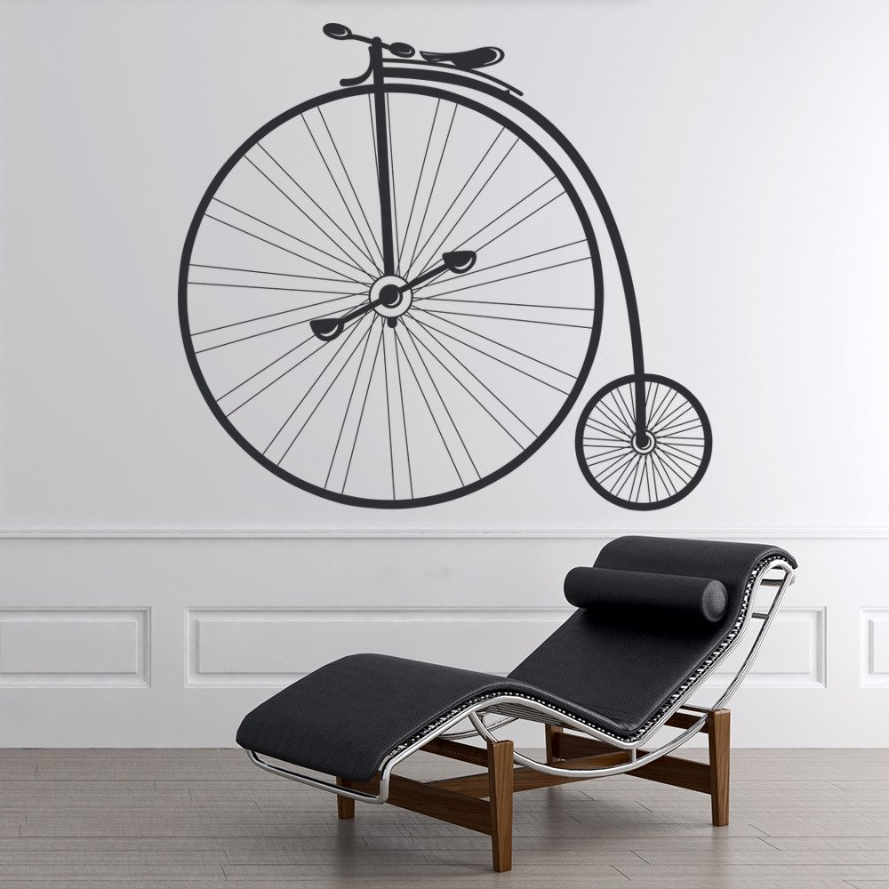 penny farthing bike wall sticker vintage bicycle wall decal retro