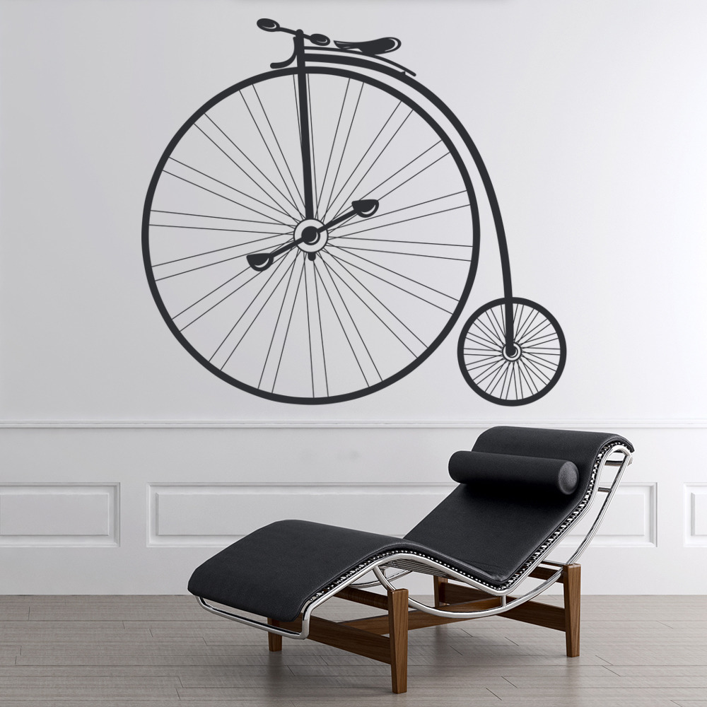 Penny Farthing Bike Wall Sticker Vintage Bicycle Wall Decal Retro Home Decor : bicycle wall decal - www.pureclipart.com