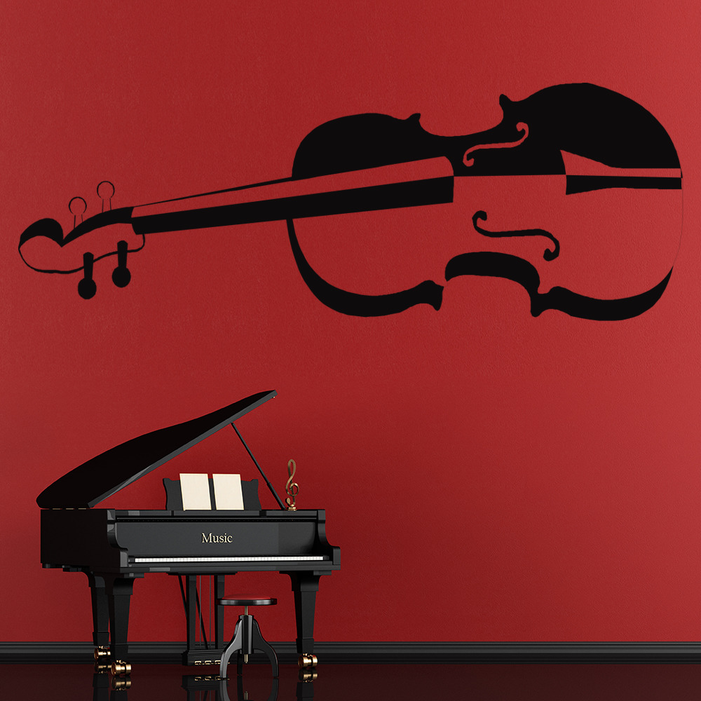 Violin Wall Sticker Music Wall Decal Musical Instruments Home Decor ...