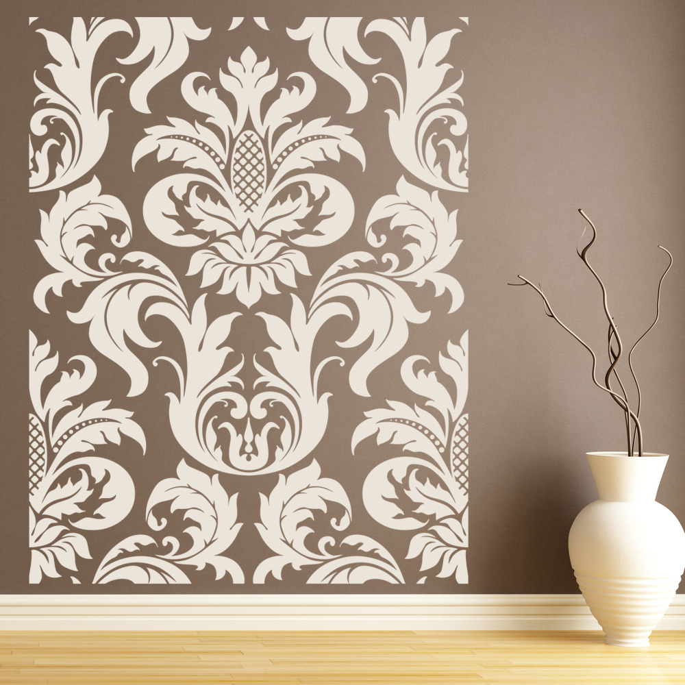 Choose Size and Color WALL DECOR DAMASK DECAL STICKER #1106
