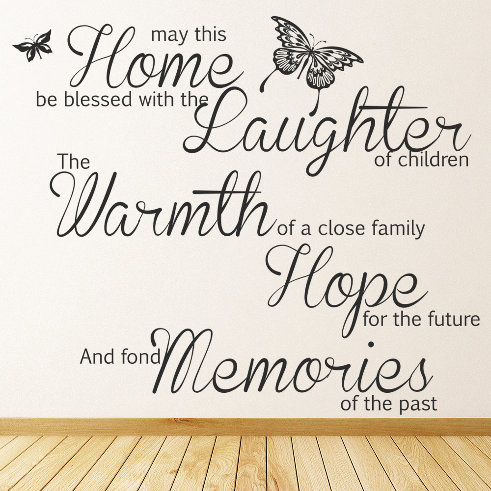 this home be blessed family quote wall sticker ws