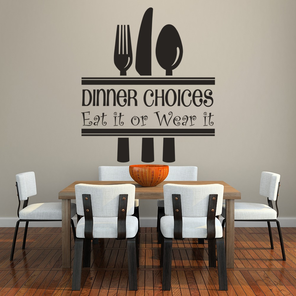 Kitchen Decor Quotes: Dinner Choices Wall Sticker Funny Kitchen Quotes Wall