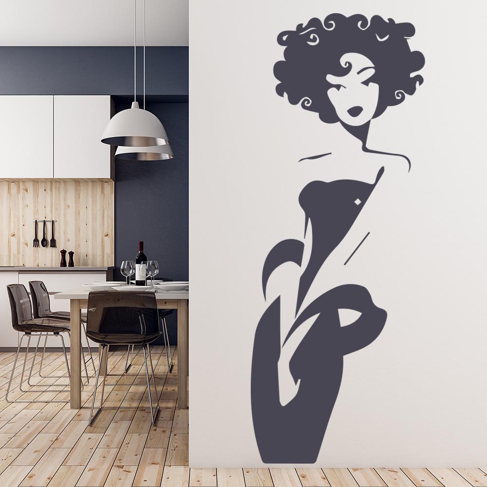 Hair Salon Girls Fashion Wall Sticker Ws 32589 Ebay