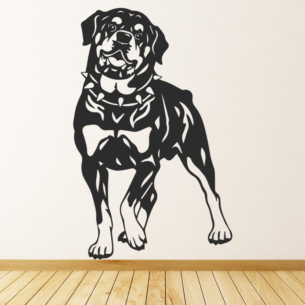 "5/"" x 5/"" ROTTWEILER head vinyl decal for Car or Laptop COLOR CHOICE dog sticker"