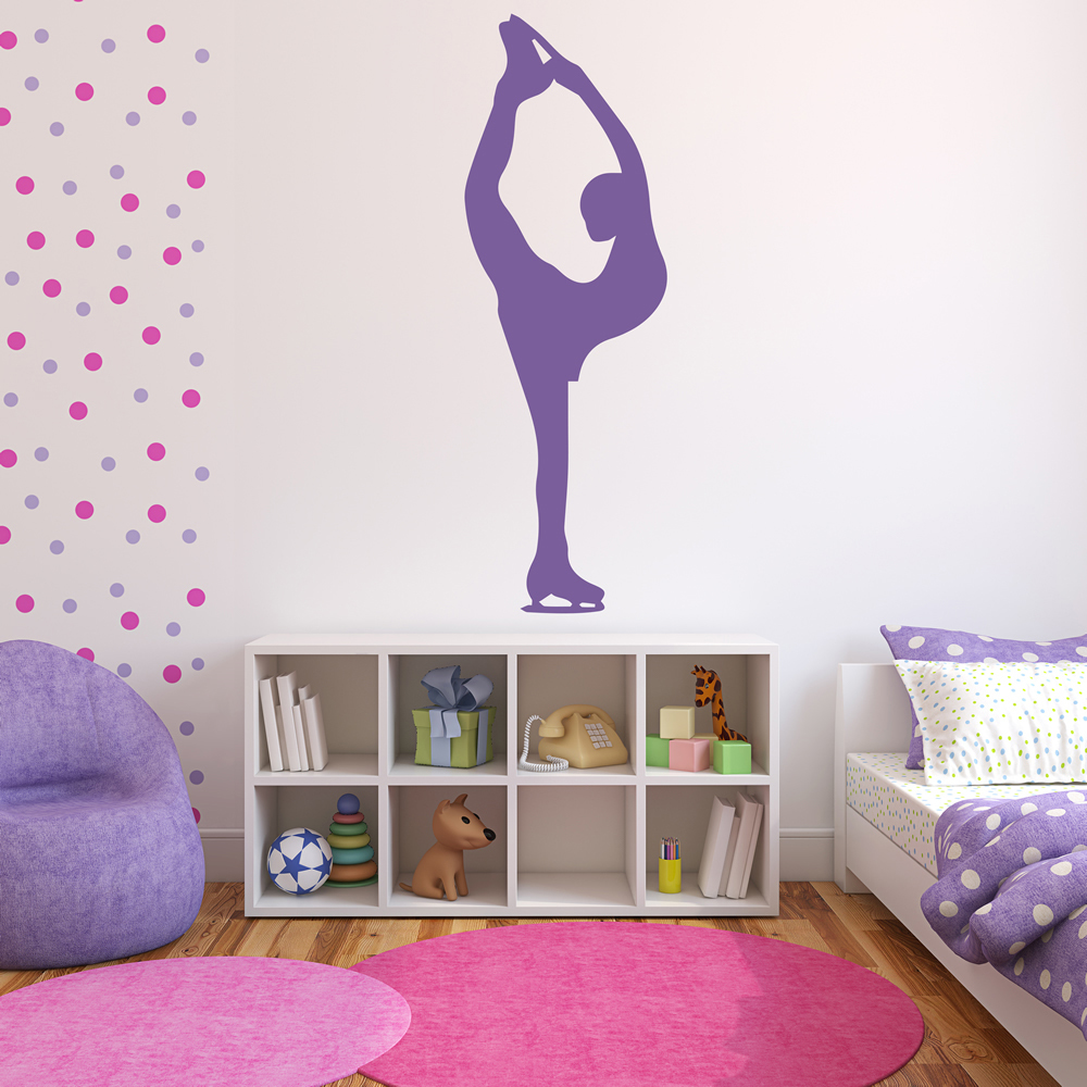 Details about Figure Skater Pose Wall Sticker Ice Skating Wall Decal Girls  Bedroom Home Decor
