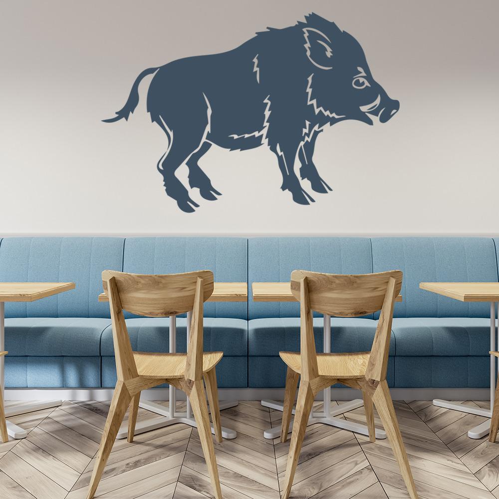 Wild Boar Wall Sticker Pig Farm Animals Wall Decal Kitchen Home ...