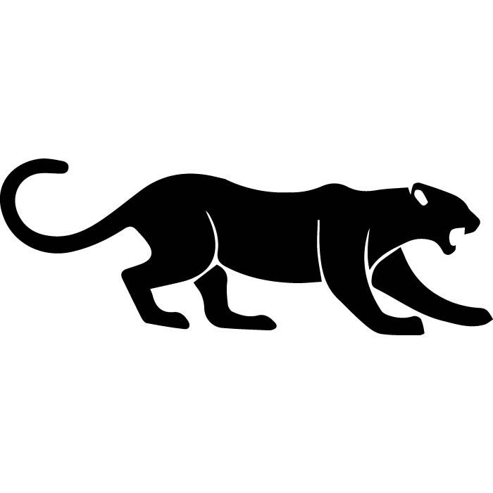 Big Cat Growl: Growling Panther Jungle Big Cat Wild Animals Wall Decal
