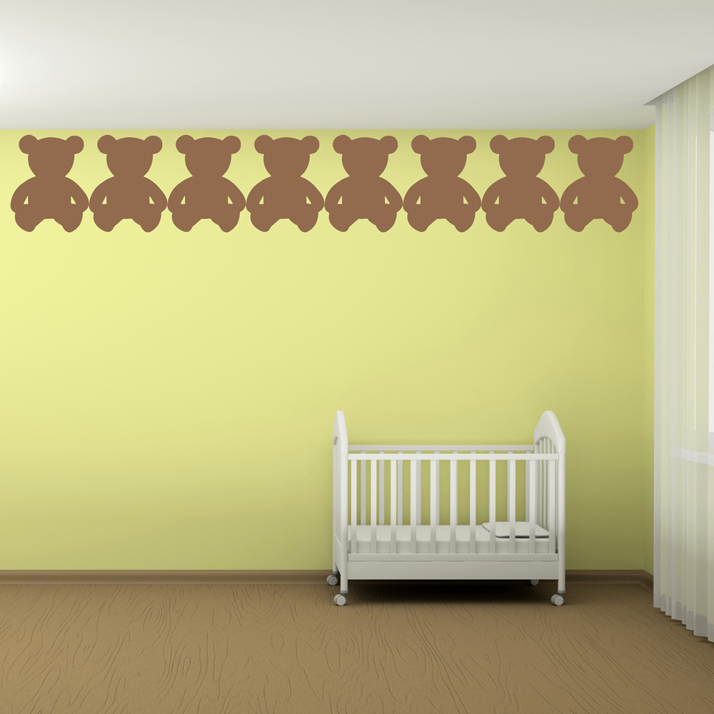Teddy Bear Wall Sticker Set Nursery Wall Decal Baby Kids Home ...
