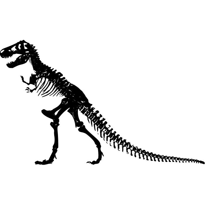 Tirano saurio Rex Esqueleto Silueta Prehistórico Dinosaurio vinilos ...