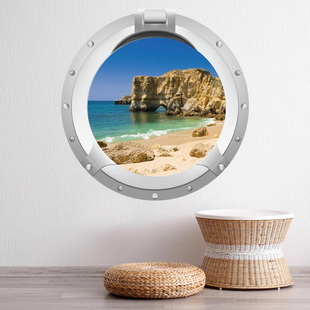 Strand ozean bullauge wandtattoo 3d wand sticker for 3d wandtattoo schlafzimmer