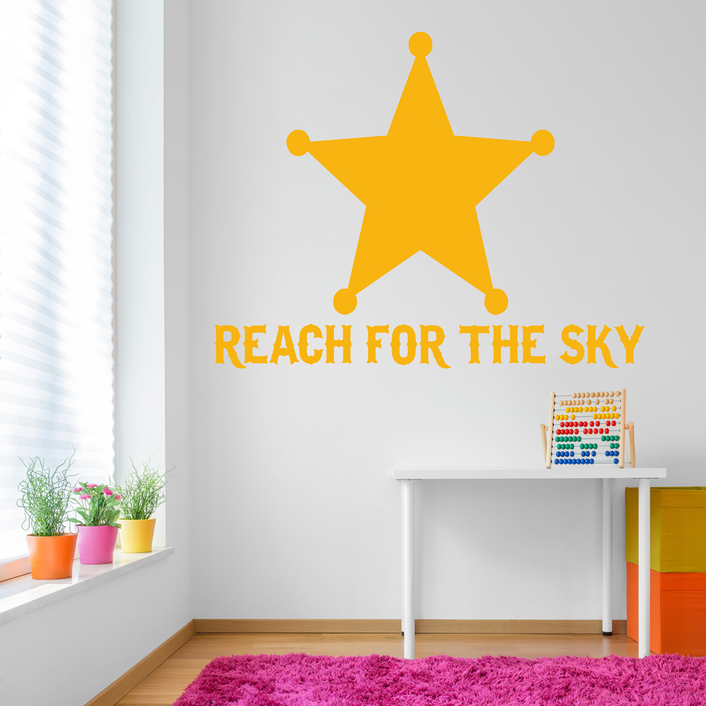 Reach For The Sky Life And Inspirational Quote Wall Sticker Home ...