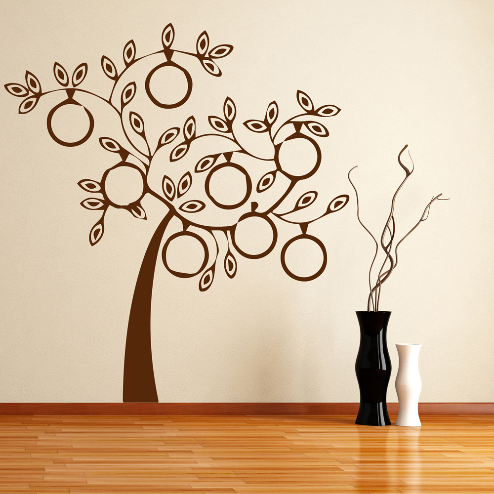 Family Tree Wall Sticker Circle Frames Wall Decal Living Room ...