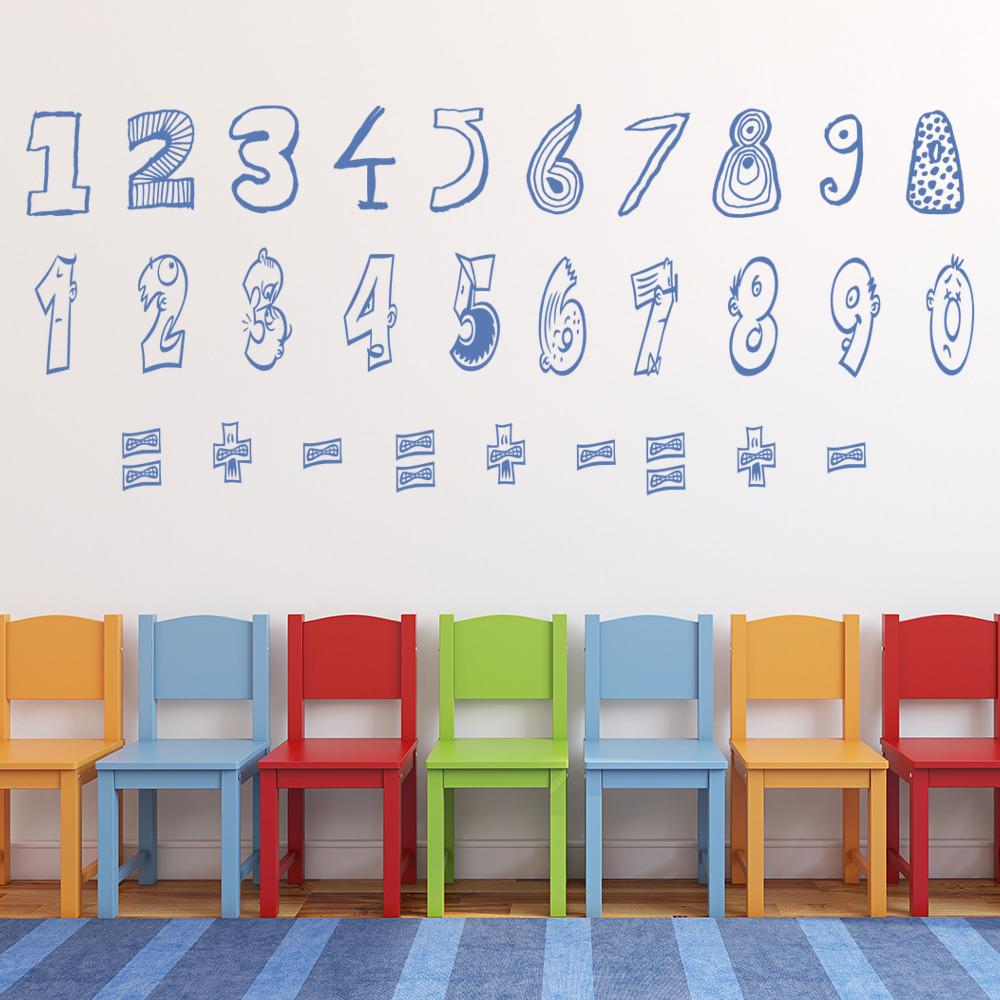 Numbers Wall Sticker Math Wall Decal Classroom School Home Decor   eBay