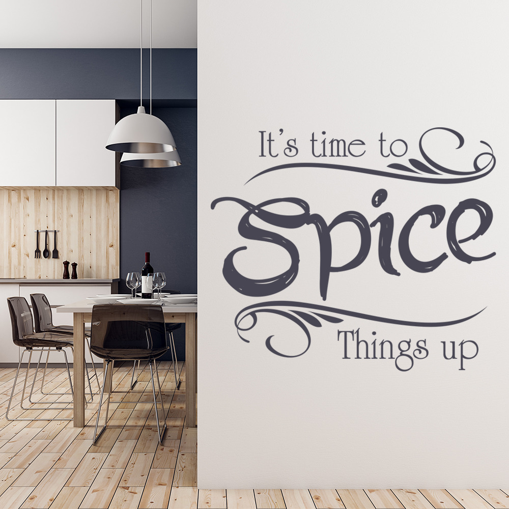 Spice Things Up Wall Sticker Kitchen Quotes Wall Decal Family Home Decor & Spice Things Up Wall Sticker Kitchen Quotes Wall Decal Family Home ...