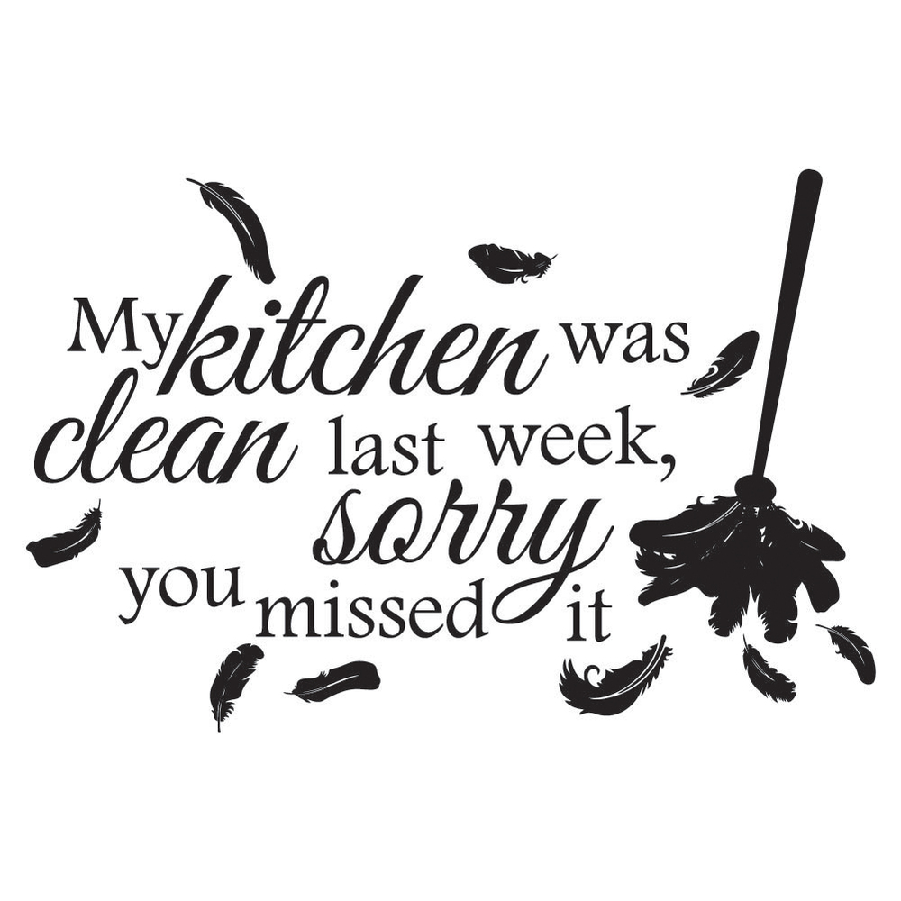 My Kitchen Was Clean Wall Sticker Kitchen Quotes Wall Decal Funny ...