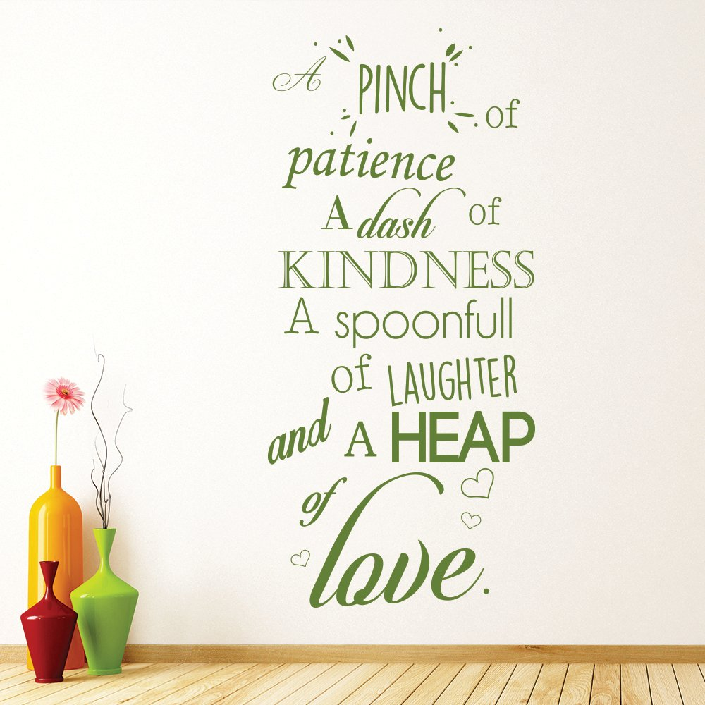 Quotes About Kitchens: A Pinch Of Patience Wall Sticker Kitchen Quotes Wall Decal