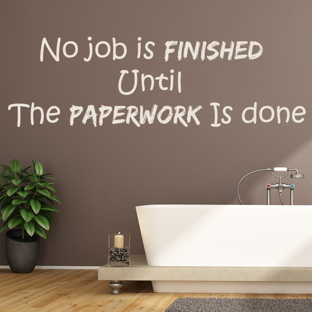 Home Decorating Jobs: Paperwork Wall Sticker Funny Toilet Quote Wall Decal