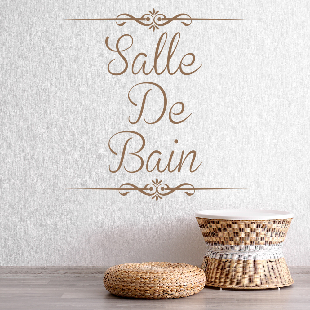 Deco Salle De Bain Fille ~ Salle De Bain Wall Sticker Bathroom Quote Wall Decal French Home