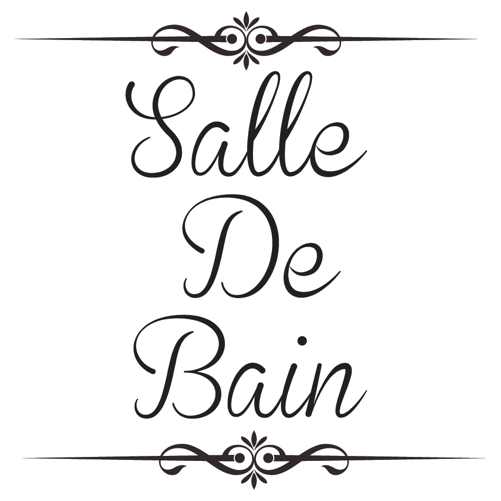 Salle De Bain Wall Decal ~ salle de bain wall sticker bathroom quote wall decal french home