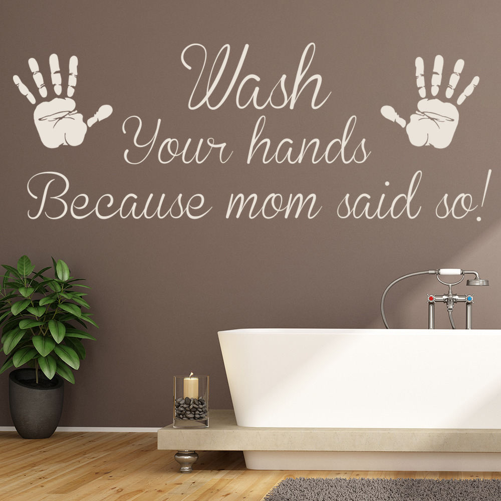 kids quote wall stickers bathroom dcor art decals