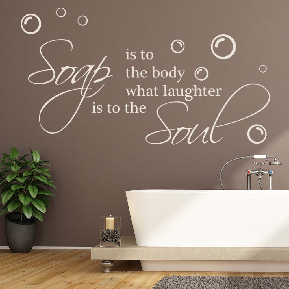 Soap Is To The Body Wall Quote Bathroom Wall Stickers Home