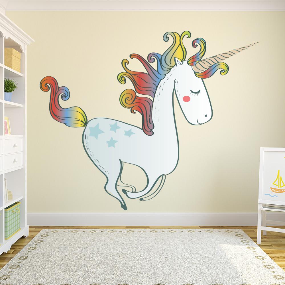 Rainbow Unicorn Wall Decal Sticker Ws 41110 Ebay