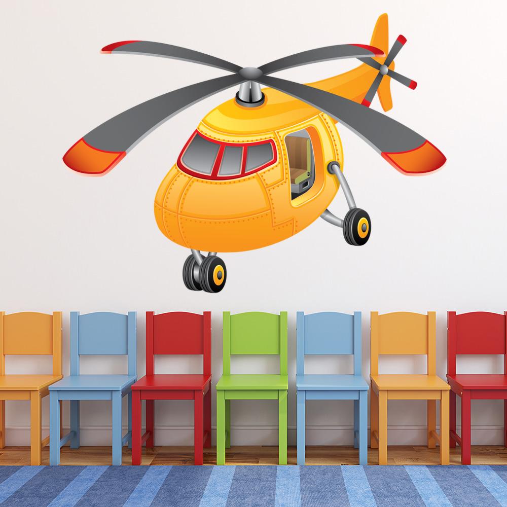 Gelber Hubschrauber Wandtattoo Ws 41149 Ebay