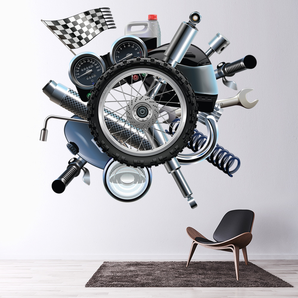 Moto Parts Garaje Pared Adhesivo WS-41191