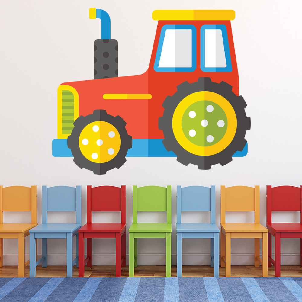 Red tractor wall sticker farm vehicle wall decal baby boys nursery red tractor wall sticker farm vehicle wall decal baby boys nursery home decor amipublicfo Gallery