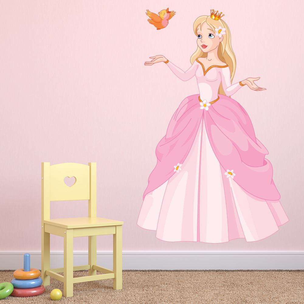 Princess & Butterfly Wall Sticker Fairytale Wall Decal Girls Bedroom ...