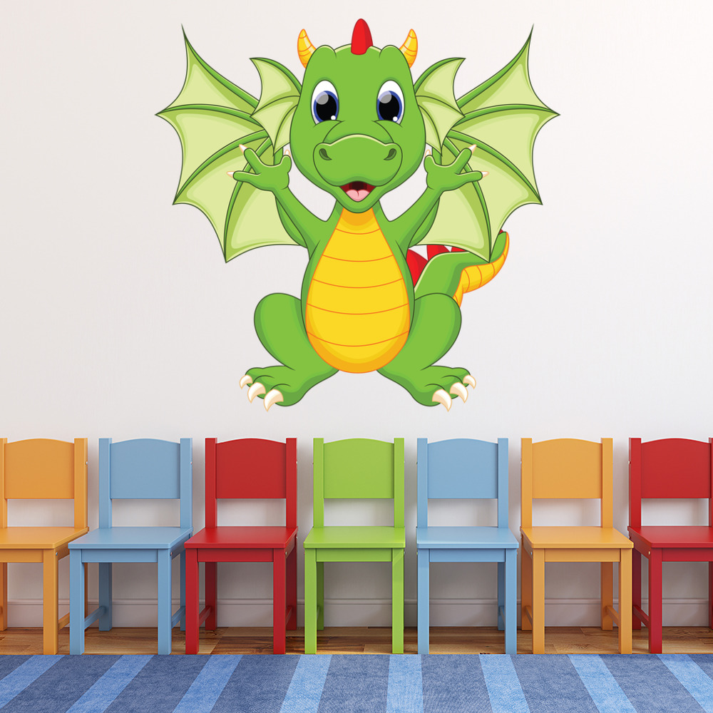 Dragon Wall Sticker Monster Wall Decal Kids Bedroom Nursery Home Decor  sc 1 st  eBay & Dragon Wall Sticker Monster Wall Decal Kids Bedroom Nursery Home ...