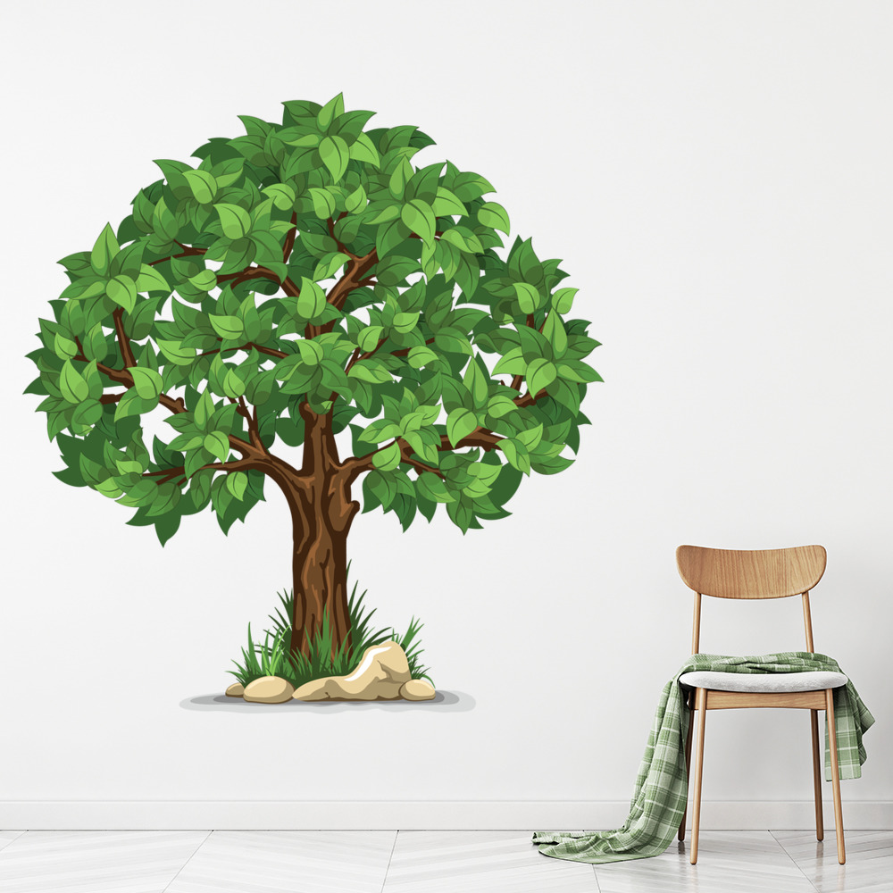 Green Tree Wall Sticker Nature Floral Wall Decal Living Room Home