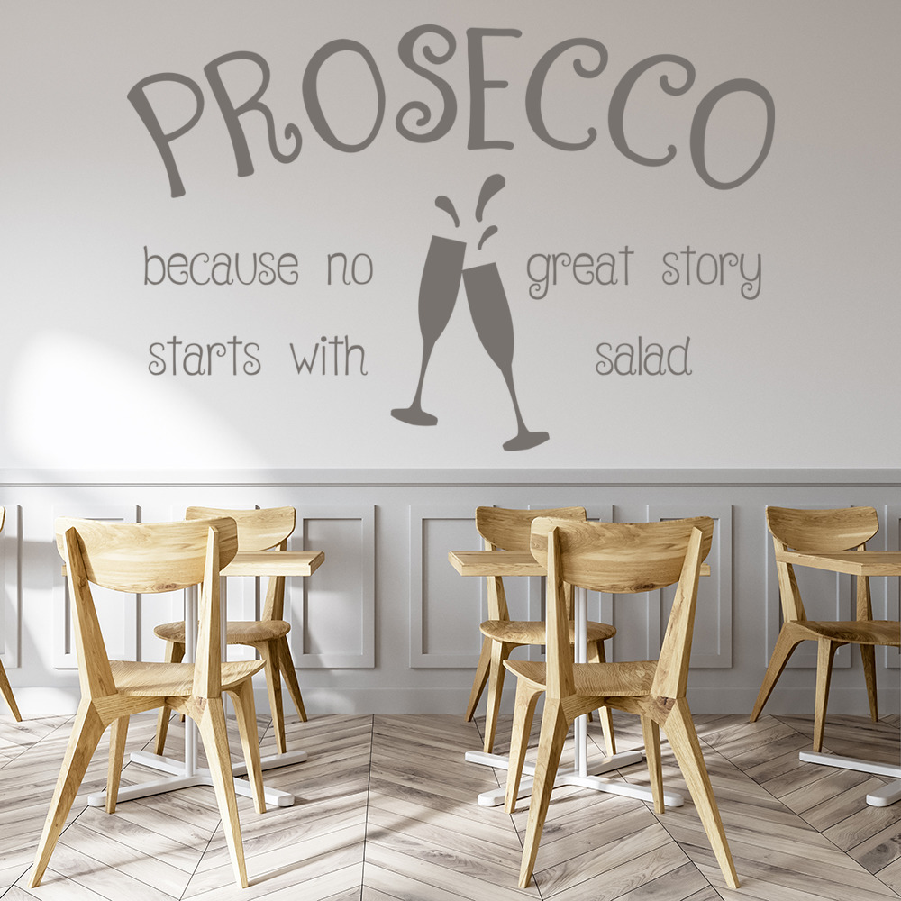 Alcohol great story wall decal funny quote sticker removable man cave decor beer