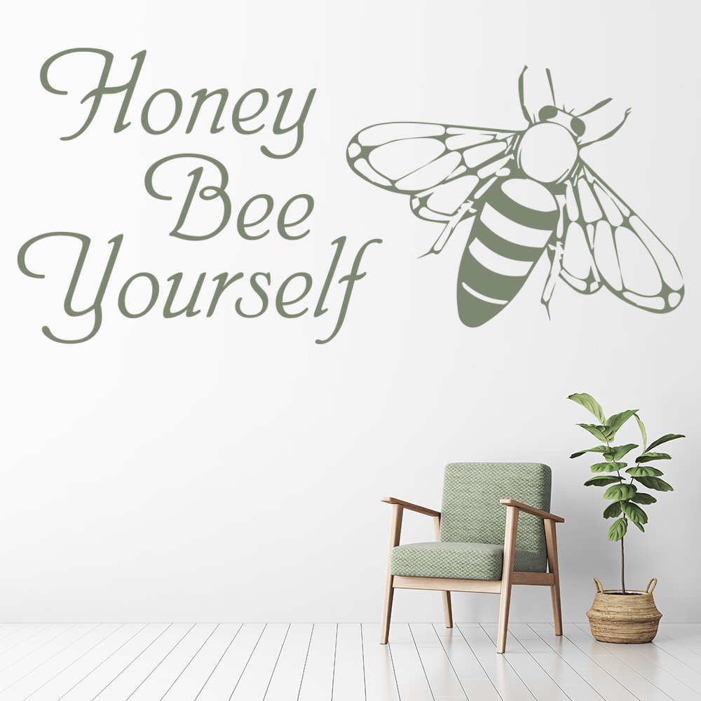 Honey Bee Yourself Inspirational Quote Wall Sticker WS-41523