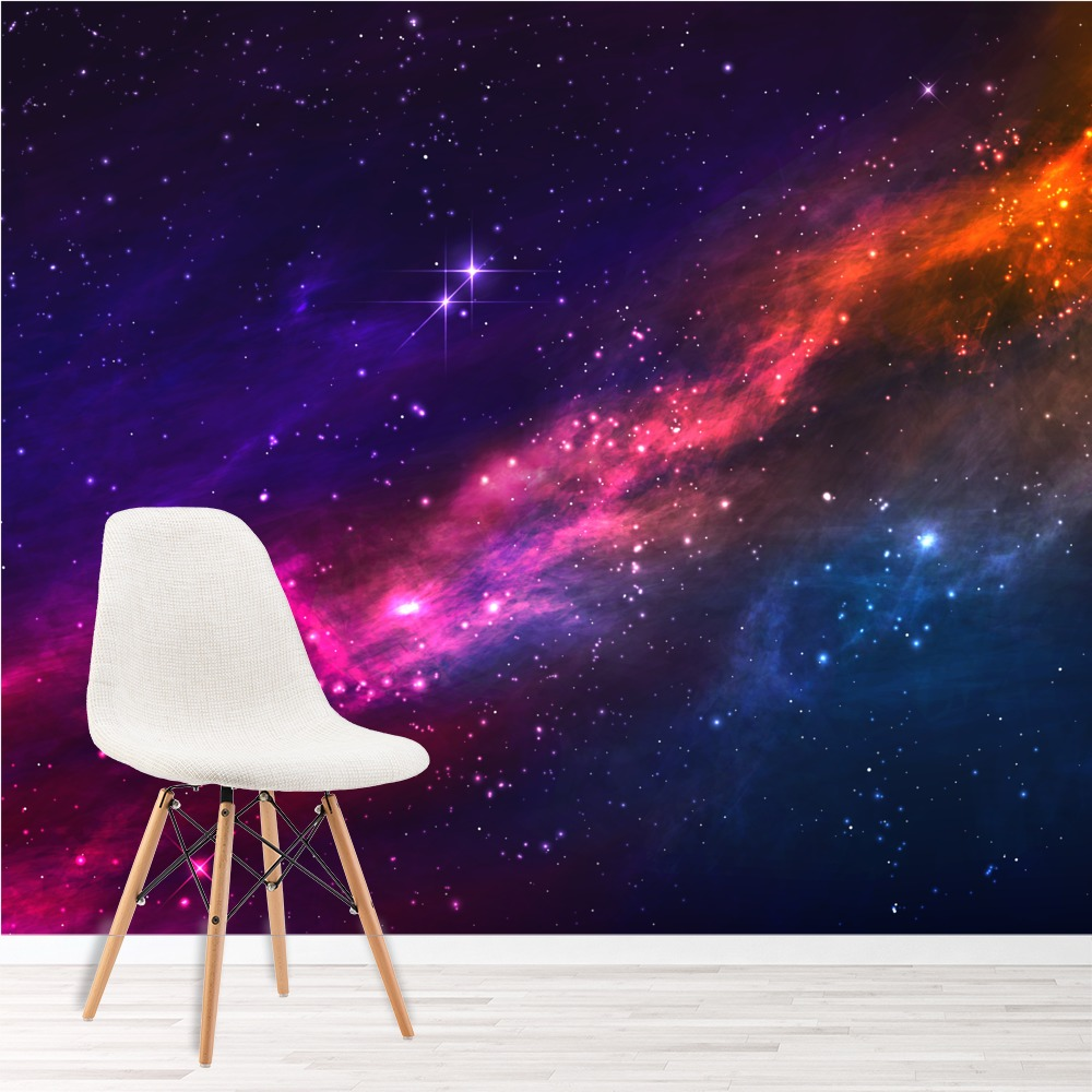 Outer space nebula wall mural purple pink sky photo - Pink space wallpaper ...