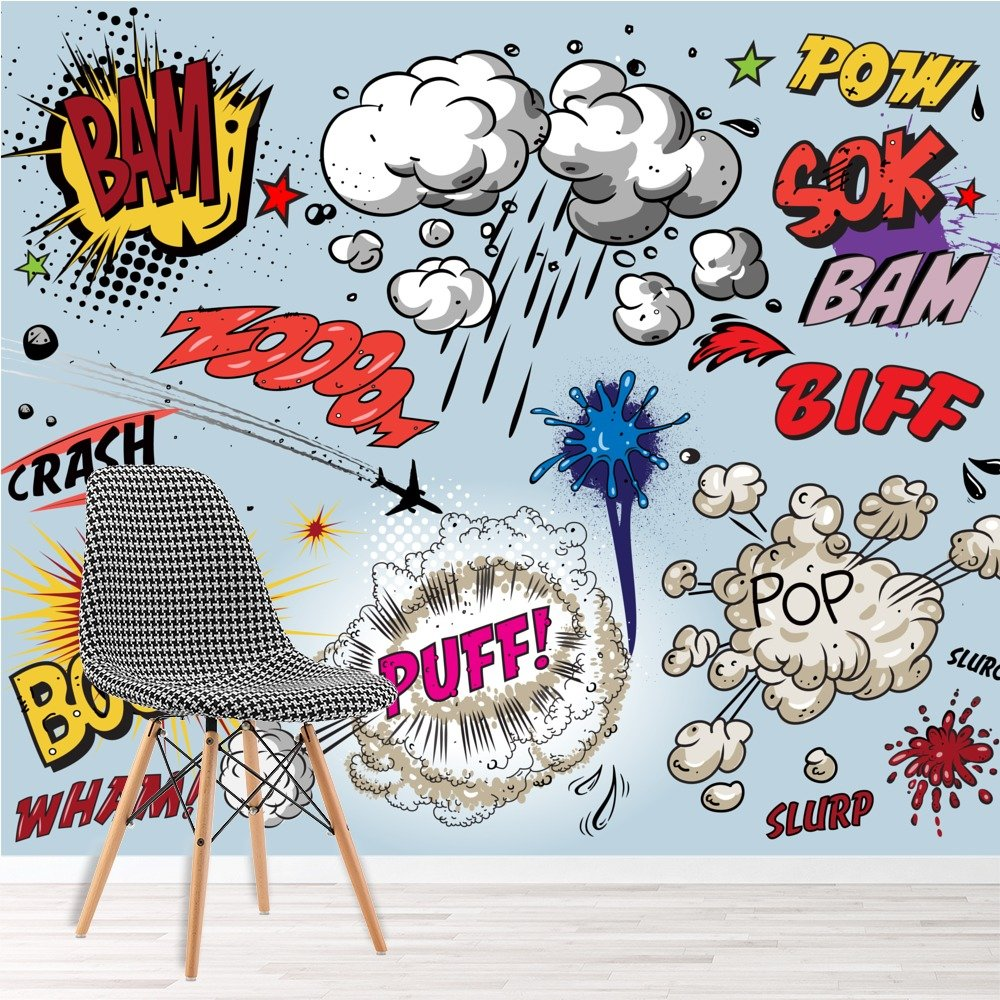 Comic Book Explosions Wall Mural Pop Art Photo Wallpaper Kids Bedroom Home Decor