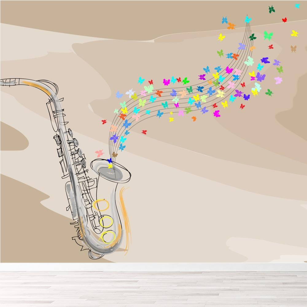 jazz saxophon wandbild musik foto tapete schlafzimmer haus dekor ebay. Black Bedroom Furniture Sets. Home Design Ideas