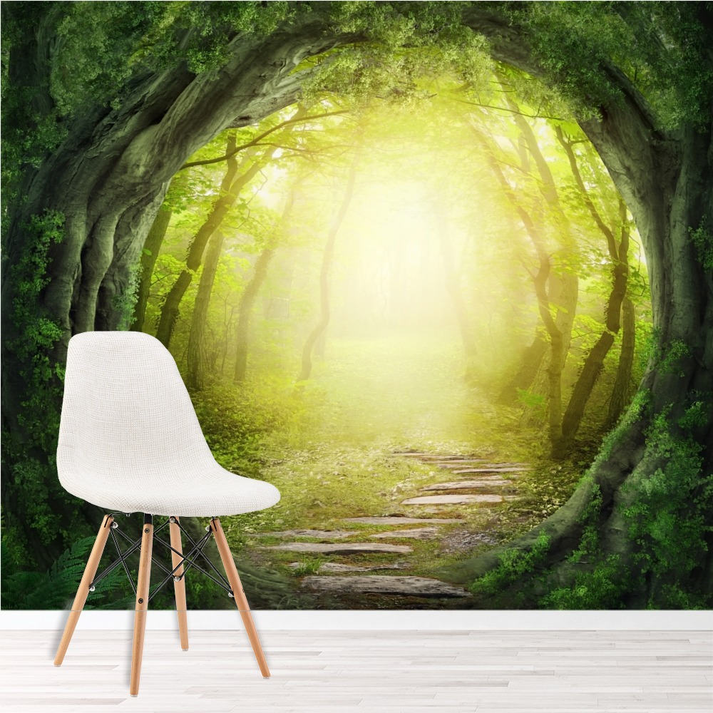 Magic Forest Wall Mural Fantasy Nature Photo Wallpaper Kids Bedroom ...