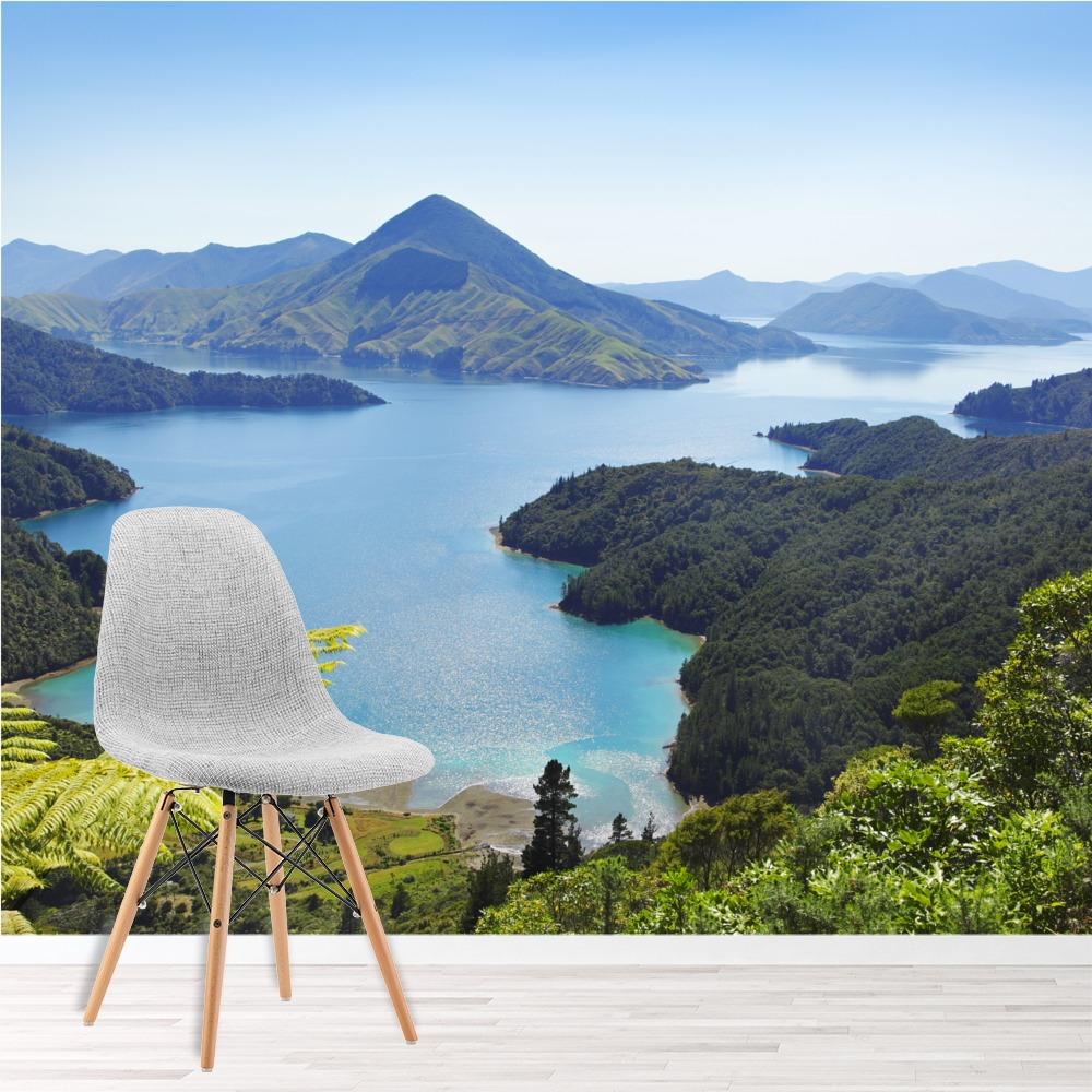 Lakes Wall Mural Mountain Landscape