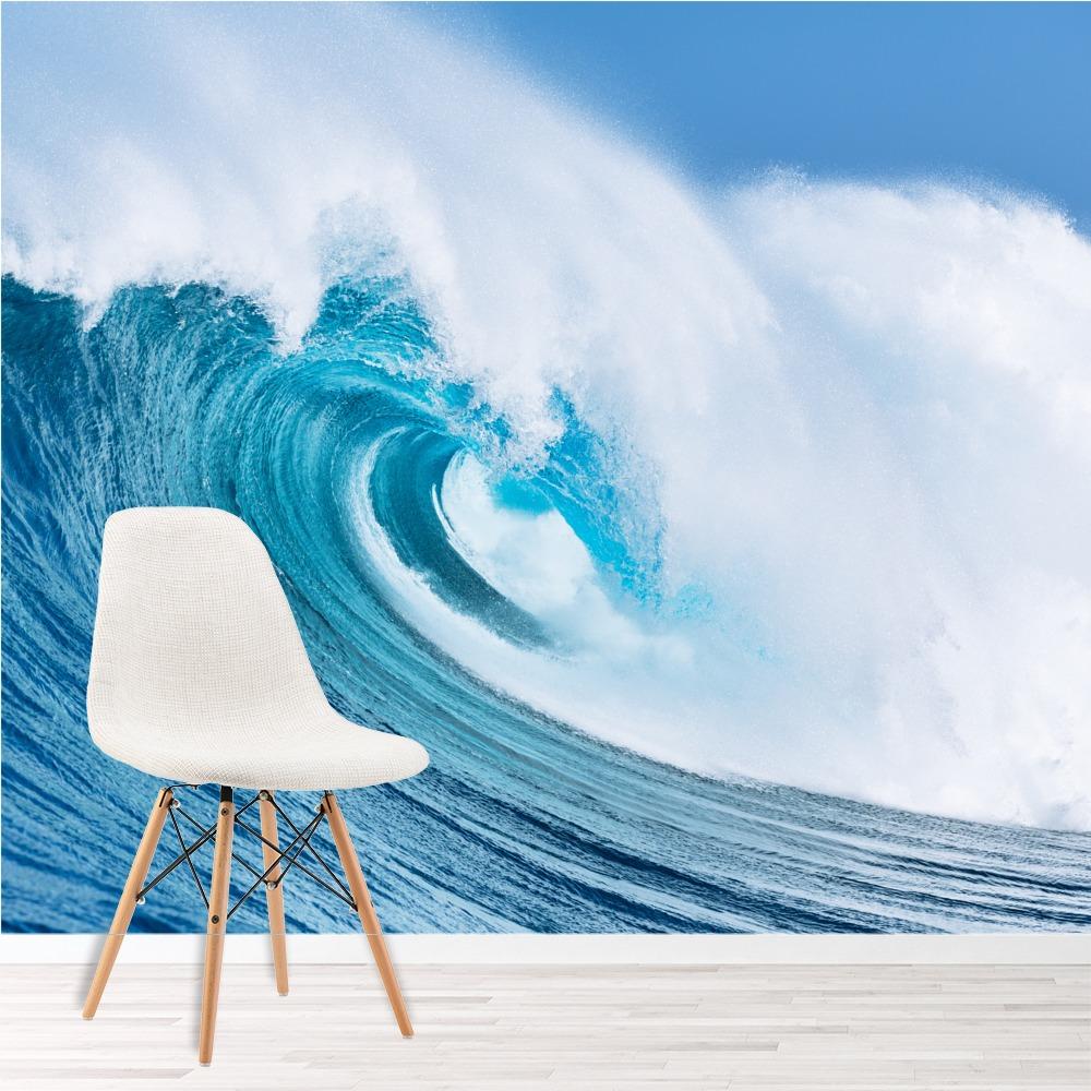 Giant Ocean Wave Wall Mural Blue Seascape Photo Wallpaper