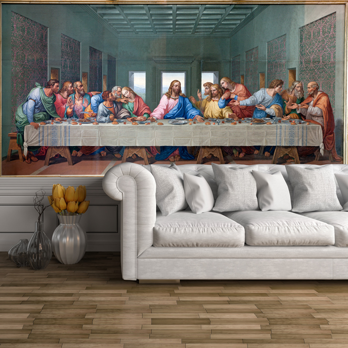 The Last Supper Wall Mural Jesus Christ Photo Wallpaper Religion Home Decor & The Last Supper Wall Mural Jesus Christ Photo Wallpaper Religion ...