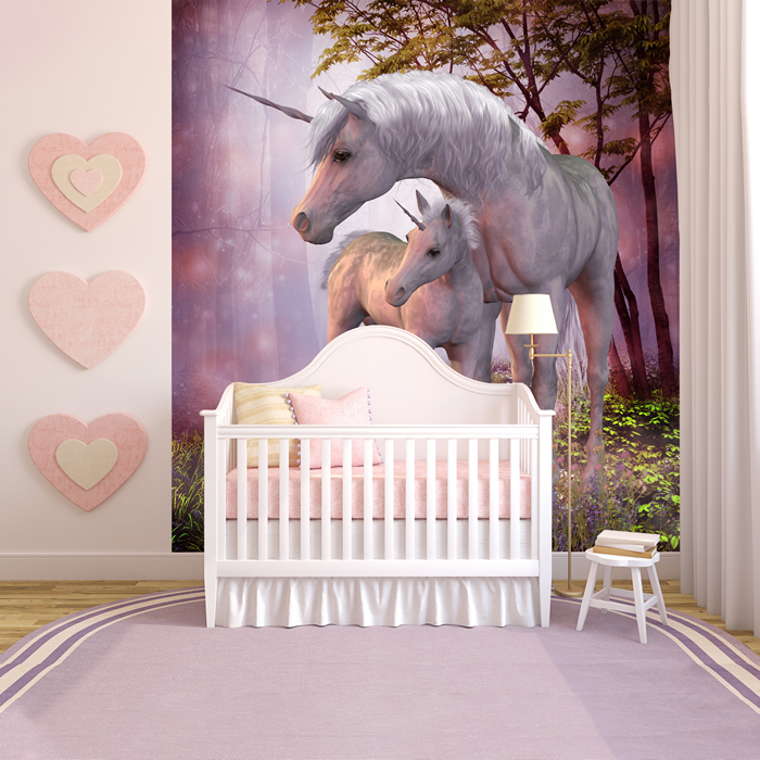 Magical Unicorn Foal Wall Mural Fantasy Photo Wallpaper Girls Bedroom Decor