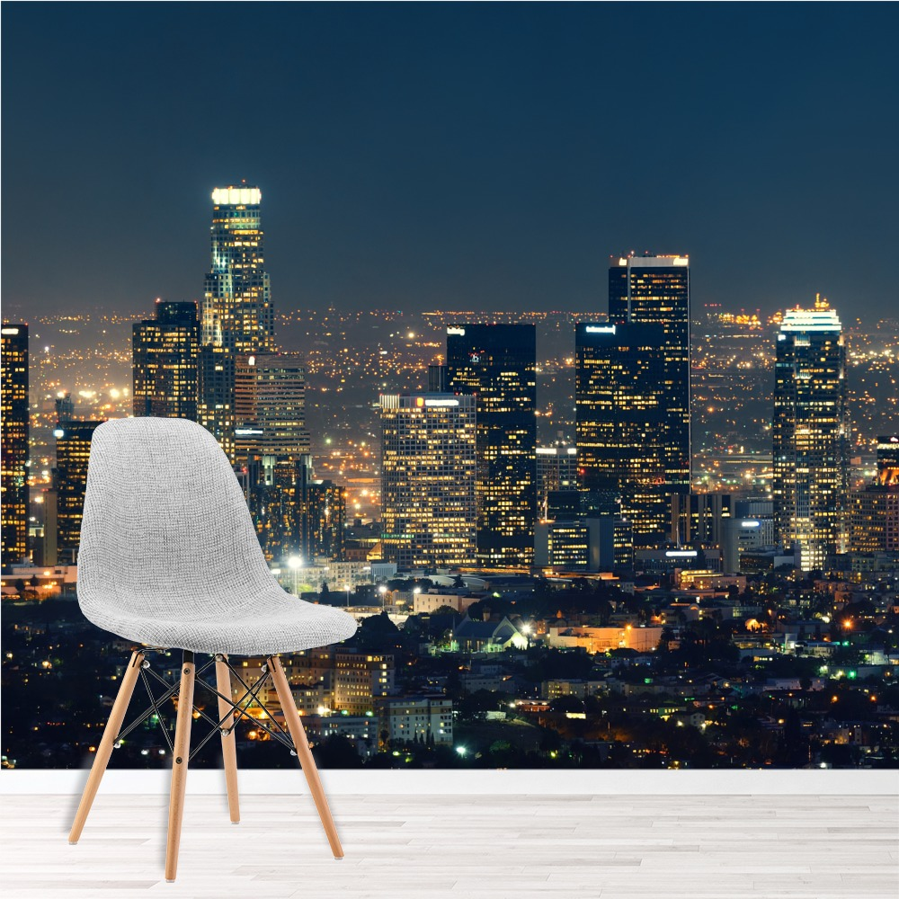 Home Decor Stores Los Angeles: Los Angeles Panoramic Wall Mural City Skyline Photo