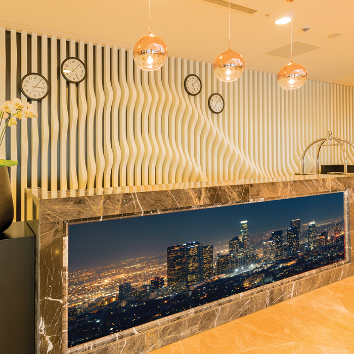 los angeles panorama wandbild stadt skyline foto tapete. Black Bedroom Furniture Sets. Home Design Ideas