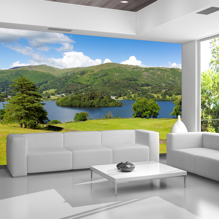 Landscape wall murals wallpaper for Deer landscape wall mural