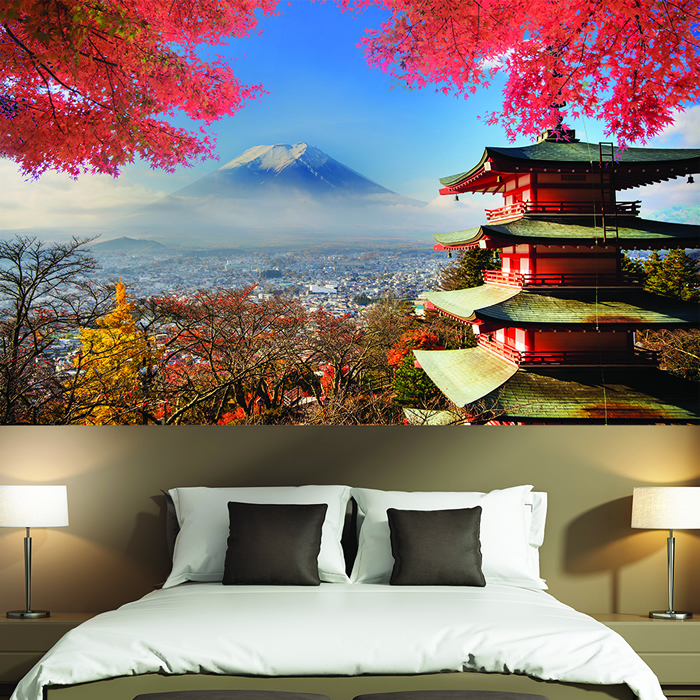 mt fuji japan wandbild vulkan berg foto tapete lanscape. Black Bedroom Furniture Sets. Home Design Ideas